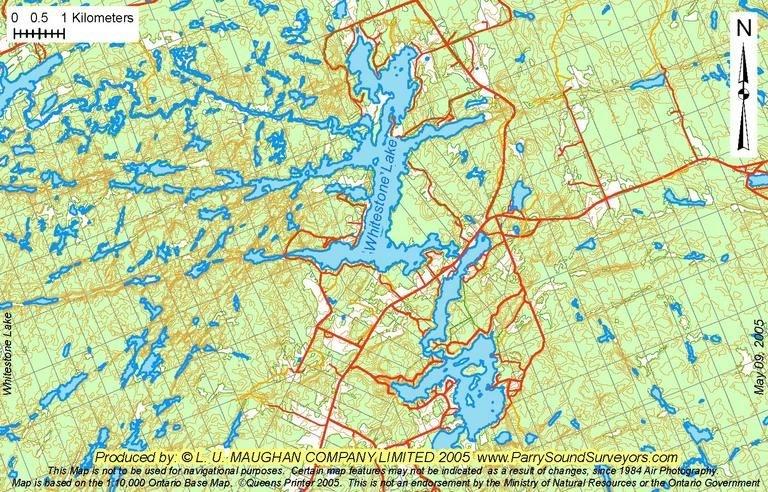whitestone lake fishing map Gord Pollock Parry Sound Area Lake Summaries whitestone lake fishing map